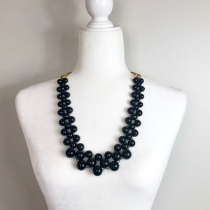 Kate Spade Black Bead Chunky Statement Necklace